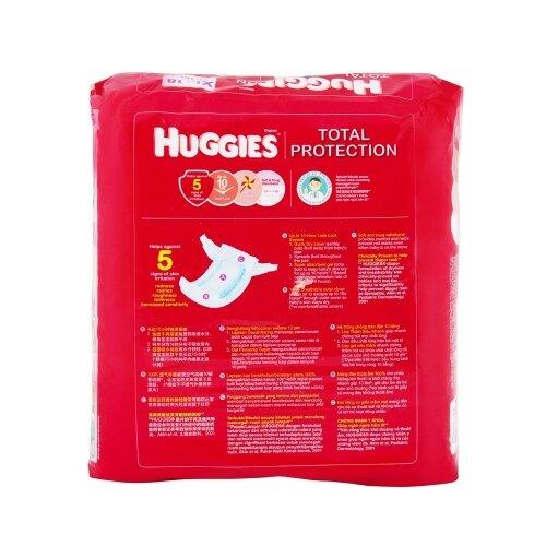 Huggies Total protection XL18 sở hữu hệ thống chống tràn suốt 10 tiếng