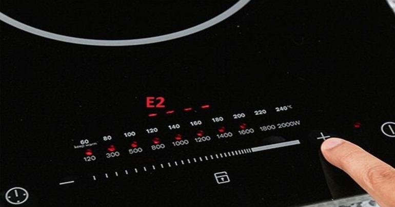 Lỗi E2 bếp hồng ngoại là gì?