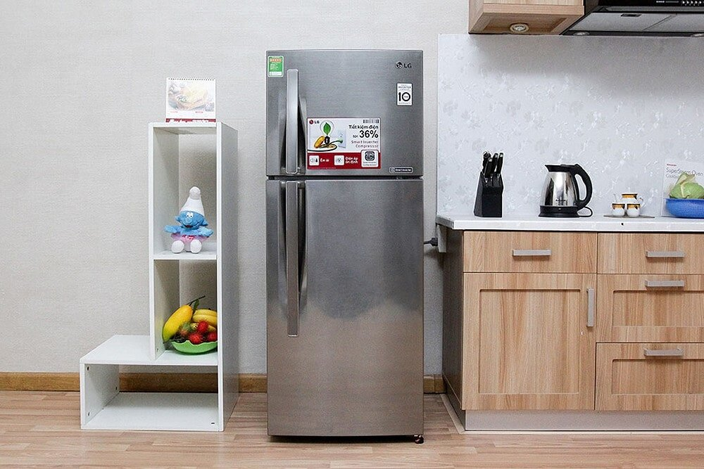 Tủ lạnh LG-GNL 315PS có dung tích lớn phù hợp với các gia đình đông thành viên