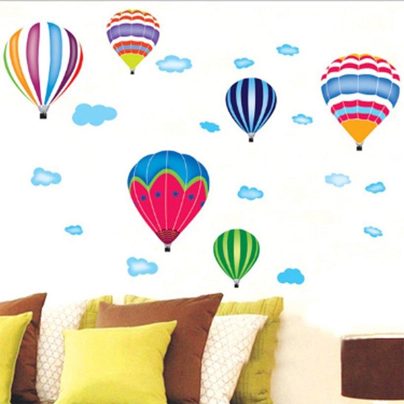 Decal hình ảnh những quả khinh khí cầu vừa sinh động vừa bắt mắt