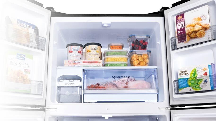 Ngăn AgMeatCase với tinh thể bạc phù hợp với nhu cầu lưu trữ thực phẩm trong thời gian dài