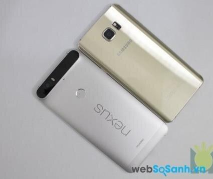 Điện thoại Nexus 6P và điện thoại Galaxy Note 5
