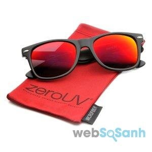 zeroUV – Flat Matte Reflective Revo Color Lens Large Horn Rimmed Style Sunglasses