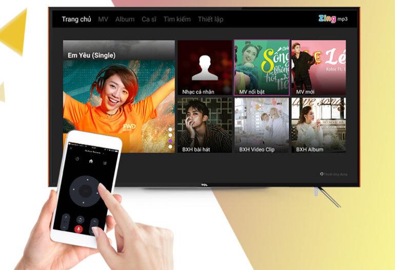 Điều khiển tivi bằng ứng dụng trên điện thoại