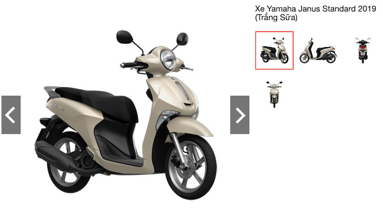 Xe Yamaha Janus Standard 2019 (Trắng Sữa)