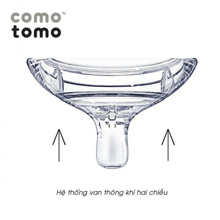 Núm ti bình sữa Comotomo có van thông khí