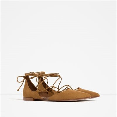 Image 2 of FLAT LACE-UP D' from Zara