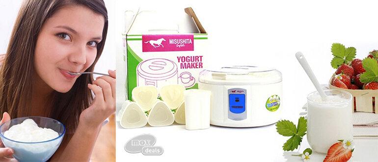 Máy làm sữa chua Misushita 6 cốc nhựa (Nguồn: muachungtb.vn)
