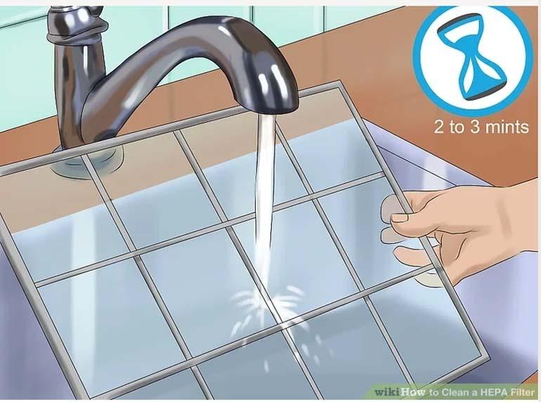 cách vệ sinh màng lọc hepa