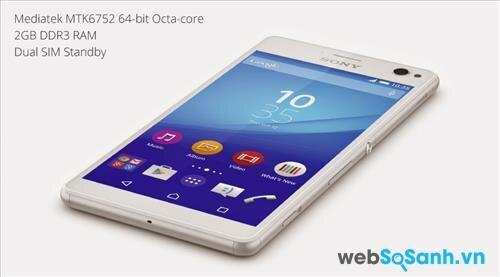 Sony Xperia C4 Dual được trang bị bộ vi xử lý Mediatek MT6752 kiến trúc 64 bit, với tám nhân Cortex – A53