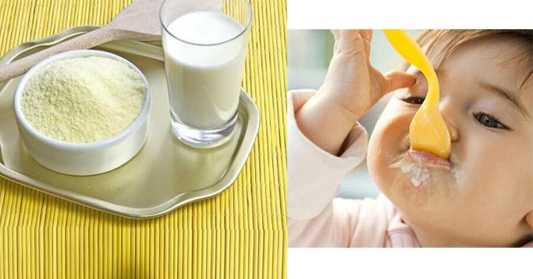 Không nên cho trẻ ăn sữa bột sống