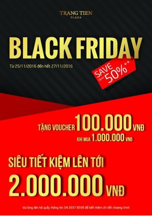 Black Friday Sale 2016 tại Tràng Tiền Plaza