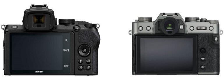 so sánh máy ảnh nikon z50 và fujifilm x-t30