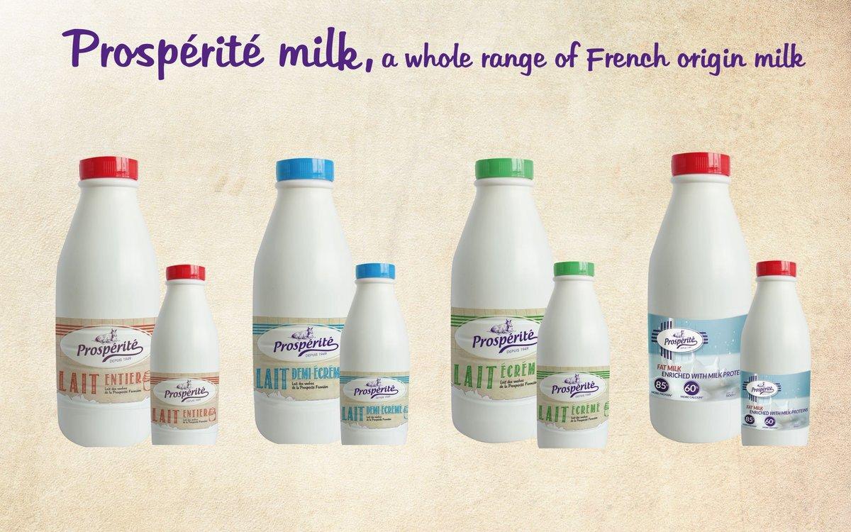 Sữa tách béo Prosperite nắp xanh da trời vốn rất quen thuộc với đông đảo người tiêu dùng trên thế giới