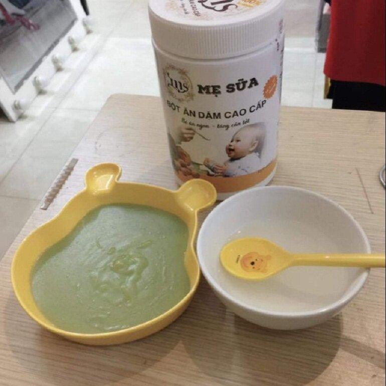 Bột ăn dặm Mẹ Sữa cho bé luôn khỏe mạnh và tăng cân tốt