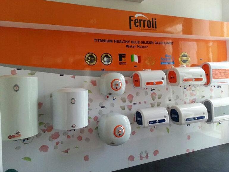 Bình nóng lạnh Ferroli với thiết kế đẹp và tiết kiệm điện với ruột bình tráng titan
