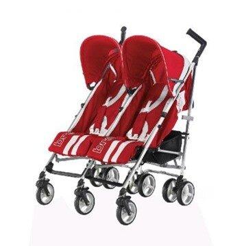 Xe đẩy đôi Brevi B.Flexy Twin màu đỏ (trẻ trên 6 tháng)