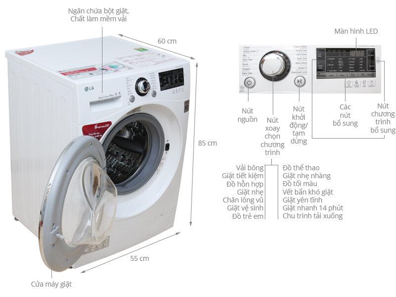 máy giặt Samsung 8kg cửa ngang