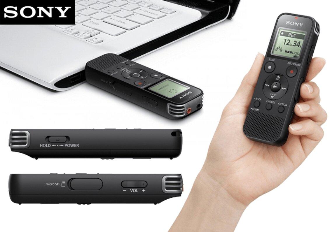 Sony ICD-PX470 hỗ trợ thẻ nhớ ngoài và kết nối tiện lợi