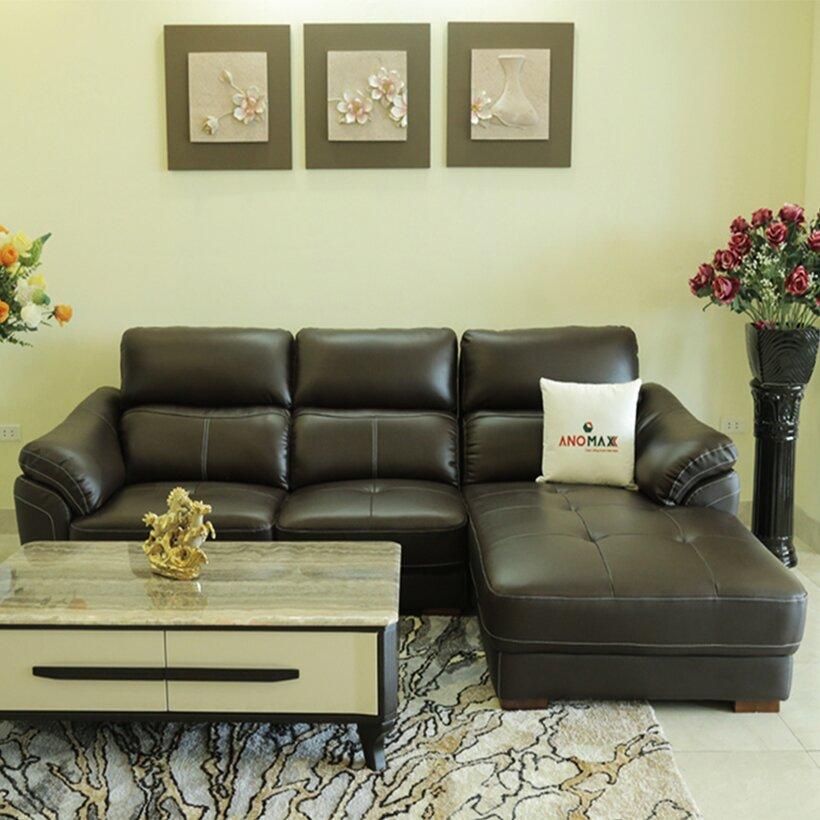 Sofa da Anomaxx 146 có kiểu dáng đẹp mắt để vừa tựa lưng chống mỏi