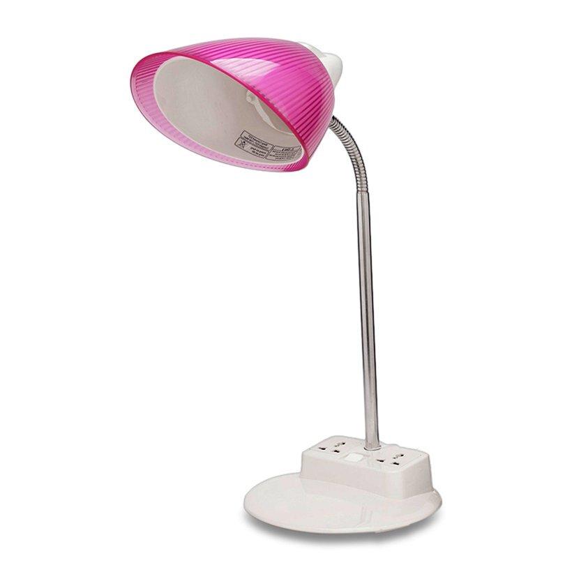 Đèn bàn LiOA tiết kiệm điện và có ổ cắm ở chân đèn tiện dụng