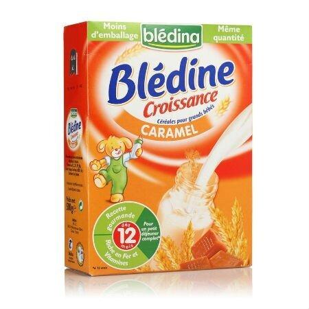 Bột ăn dặm pha sữa Bledina vị Caramel - 12 tháng