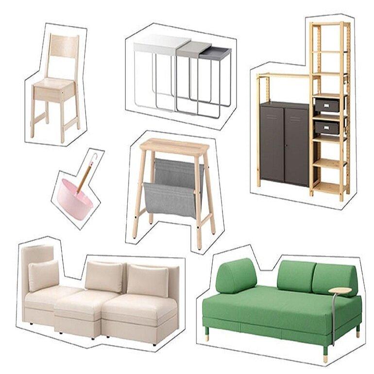 một số món đồ nội thất IKEA