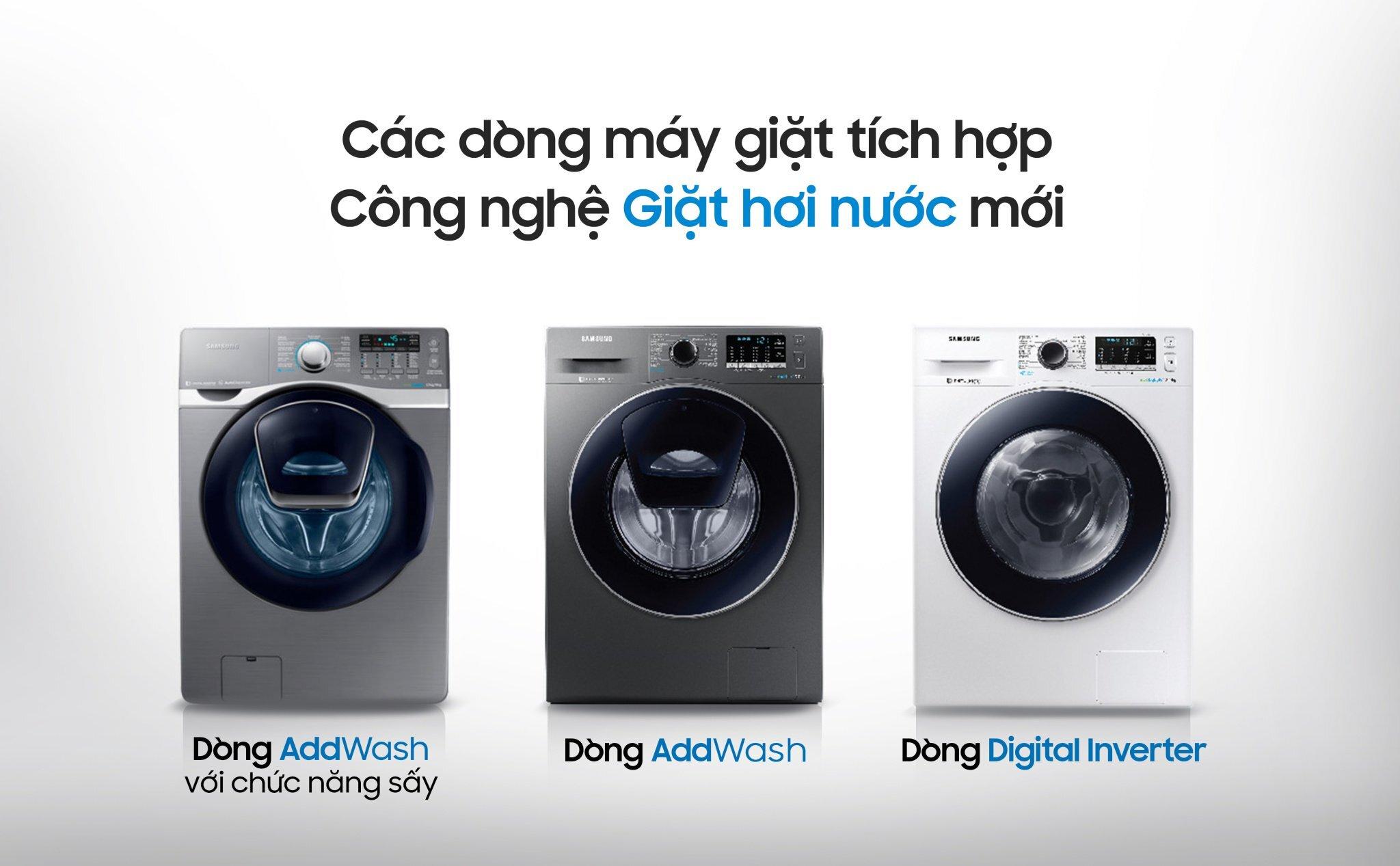 Các chức năng của máy giặt Samsung