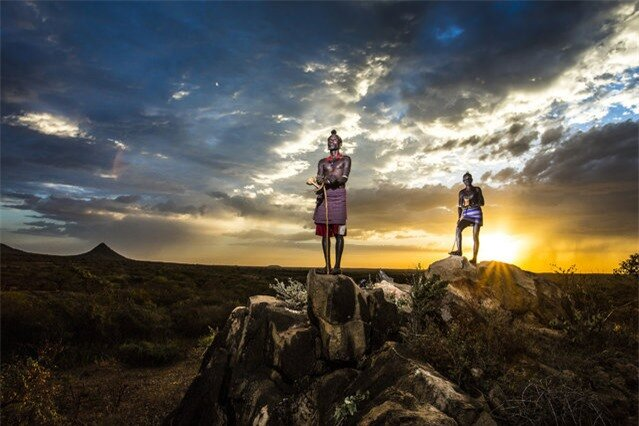 """Observer"". Hamer tribe shepherds observing the area in Omo Valley. Photo location: Ethiopia. (Photo and caption by Goran Jovic/National Geographic Photo Contest)"