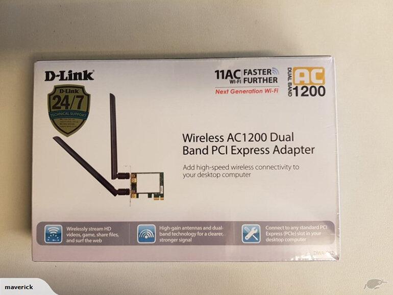 Card wifi PCI băng tần kép Dlink DWA 582 (Nguồn: tiki.vn)