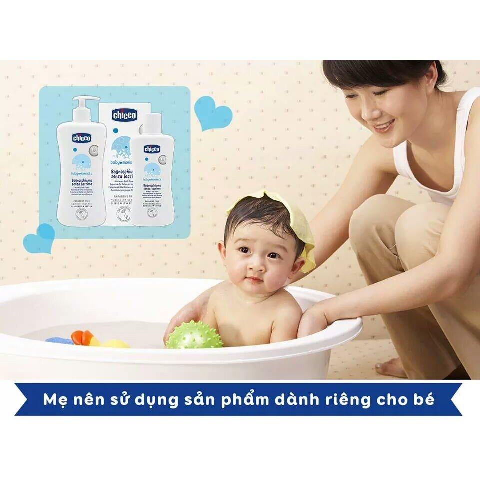 Sữa tắm chiết xuất yến mạch OM+ Chicco giúp bảo vệ bé khỏi vi khuẩn gây hại