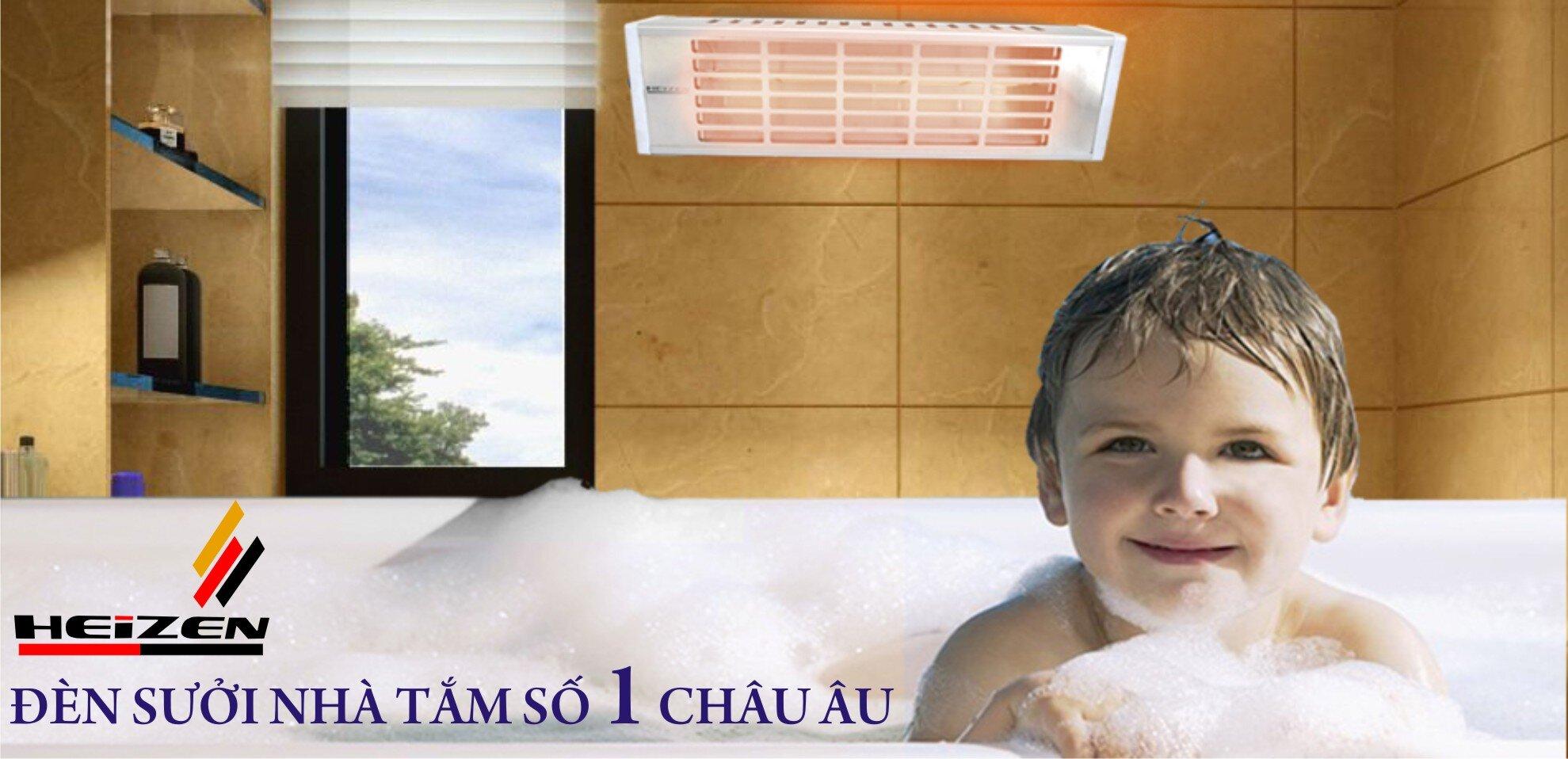 Đèn sưởi dùng để tắm cho bé vào mùa đông