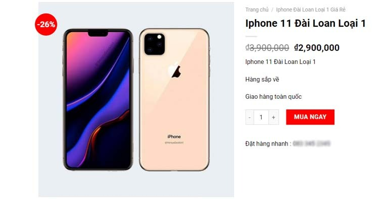 iphone 11 đài loan