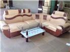 Sofa Da kết hợp với Nỉ hoa văn GHS-805