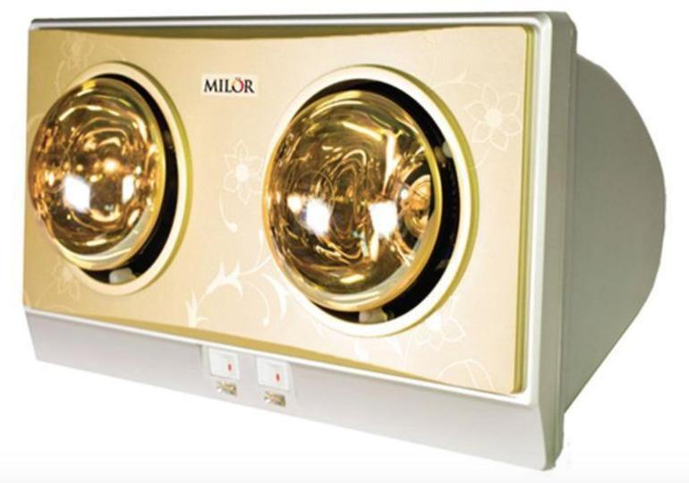 Tính an toàn của đèn sưởi Milor 2 bóng.