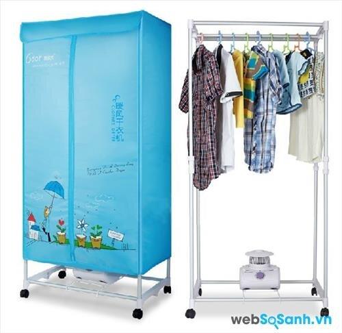 Máy sấy quần áo Facare JK2013 có thể dùng như một tủ treo đồ bình thường