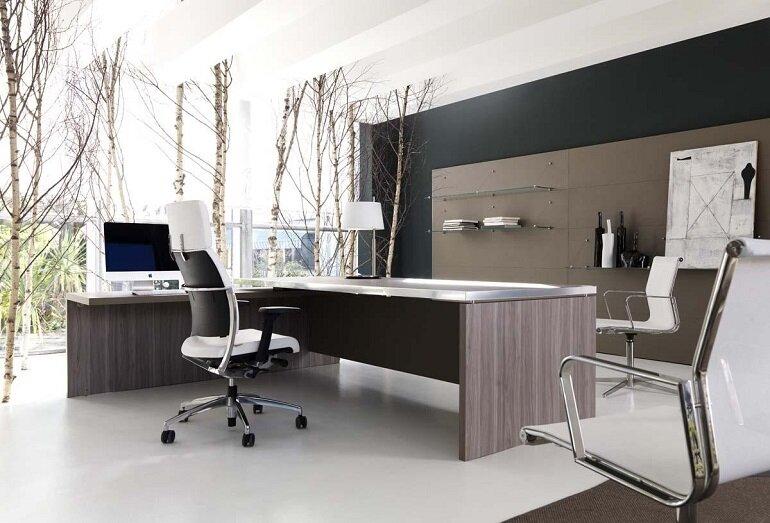 Nên chọn bàn giám đốc có kích thước phù hợp với không gian và diện tích văn phòng