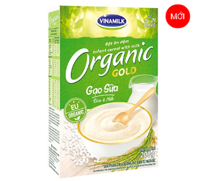 Bột ăn dặmVinamilkOrganic Gold gạo sữa cho trẻ 6 - 24 tháng tuổi