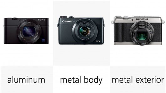 The metal Sony RX100 III and Canon Powershot G7 X are the most solid-feeling cameras of th...