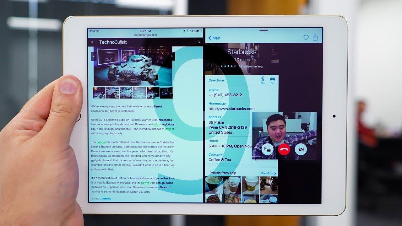 Tính năng chia đôi màn hình trên iPad