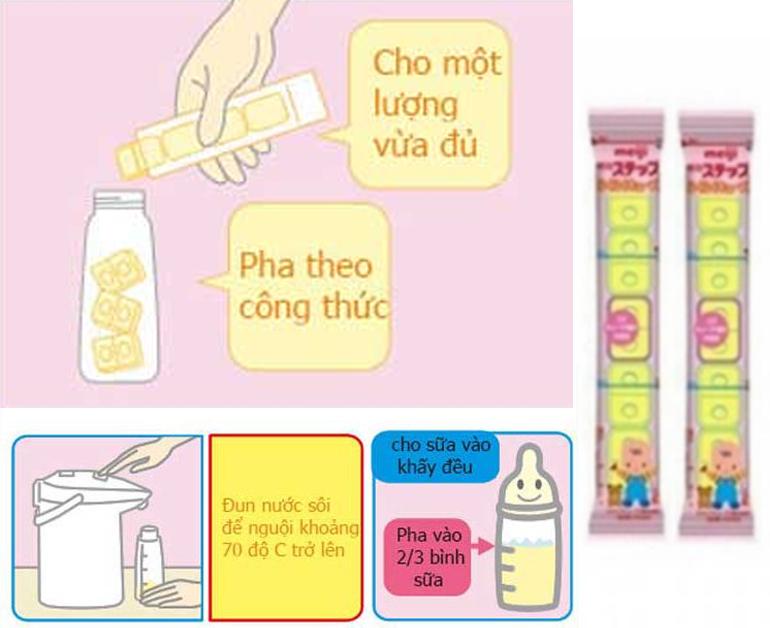Cách pha sữa bột Meiji thanh số 0 đúng chuẩn cho bé sơ sinh