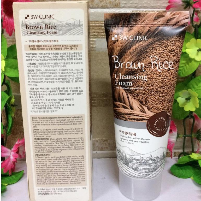 Thông tin chi tiết về sữa rửa mặt 3W Clinic gạo