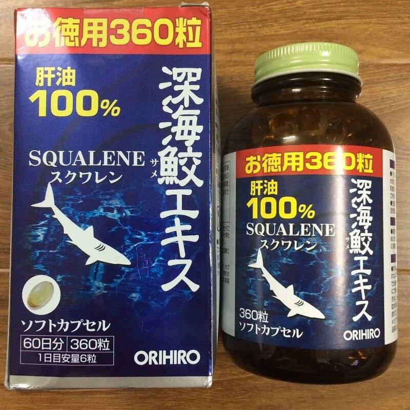 Sụn vi cá mập chữa bệnh về xương khớp của Orihiro Squalene