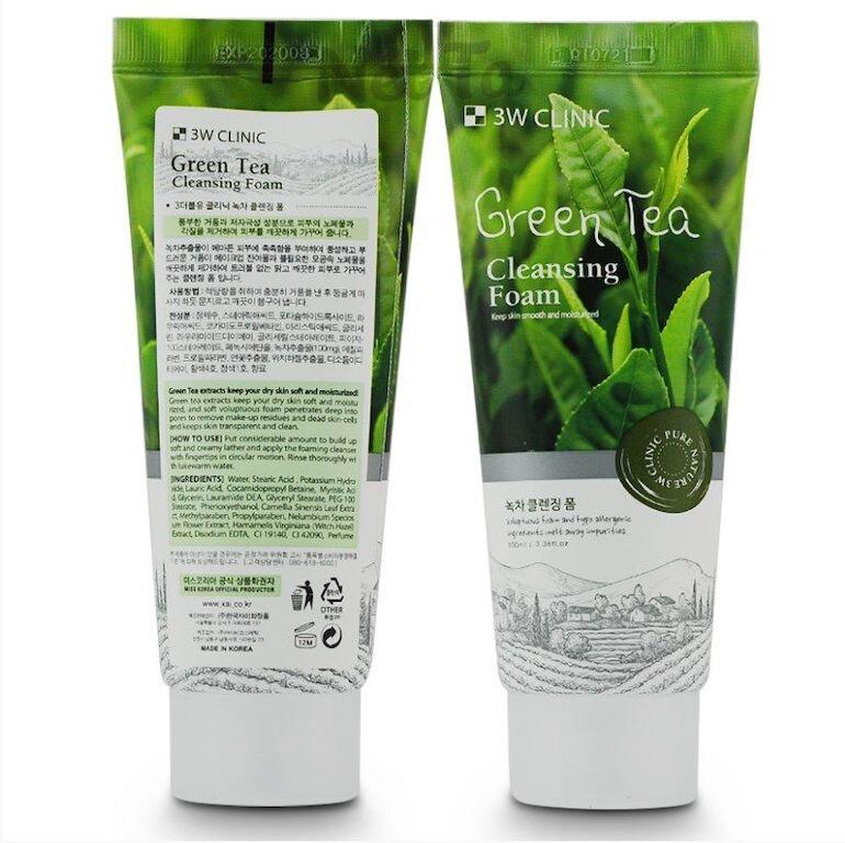 Sữa rửa mặt 3w Clinic Green Tea Cleansing Foam