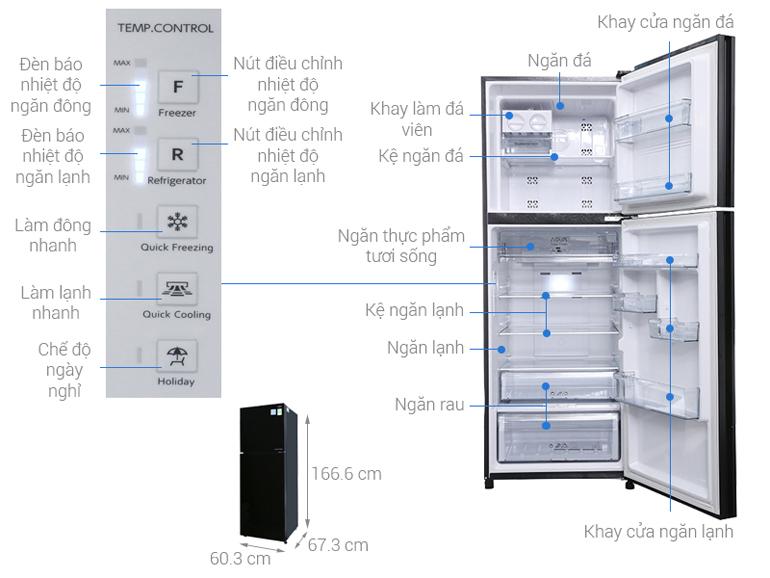 Tủ lạnh Aqua Inverter AQR-IG356DN GBN