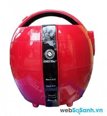Nồi cơm điện Korea King KRC-1100 màu đỏ đen