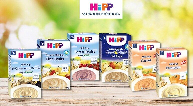 Bột ăn dặm Hipp vị ngọt phù hợp với các bé từ 4 – 6 tháng tuổi