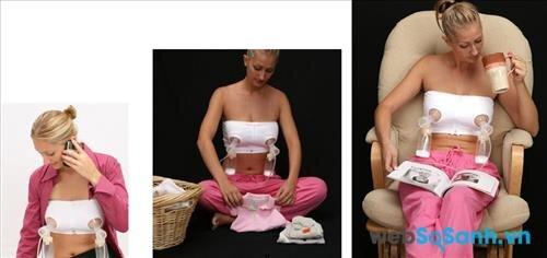 Máy hút sữa rất hữu ích với những mẹ có nhiều sữa mà không thể cho con bú thường xuyên (nguồn: internet)