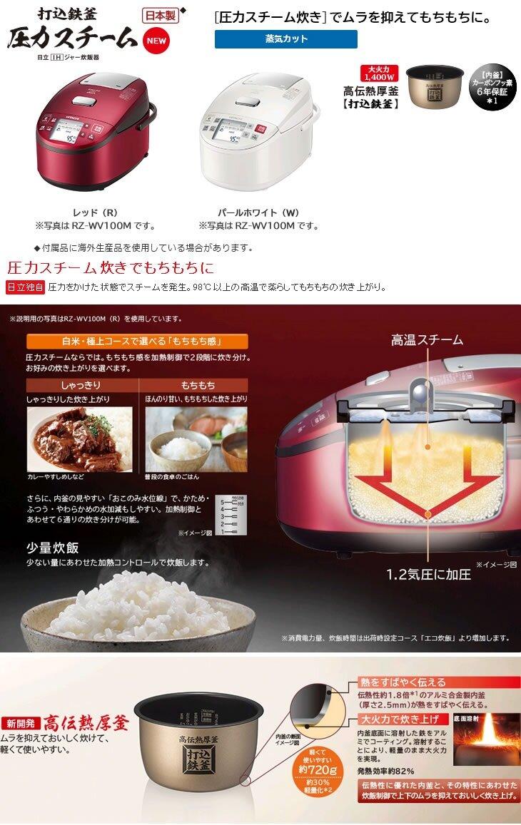 Nồi cơm điện Hitachi sử dụng công nghệ điện từ (IH) và biến tần (Inverter)