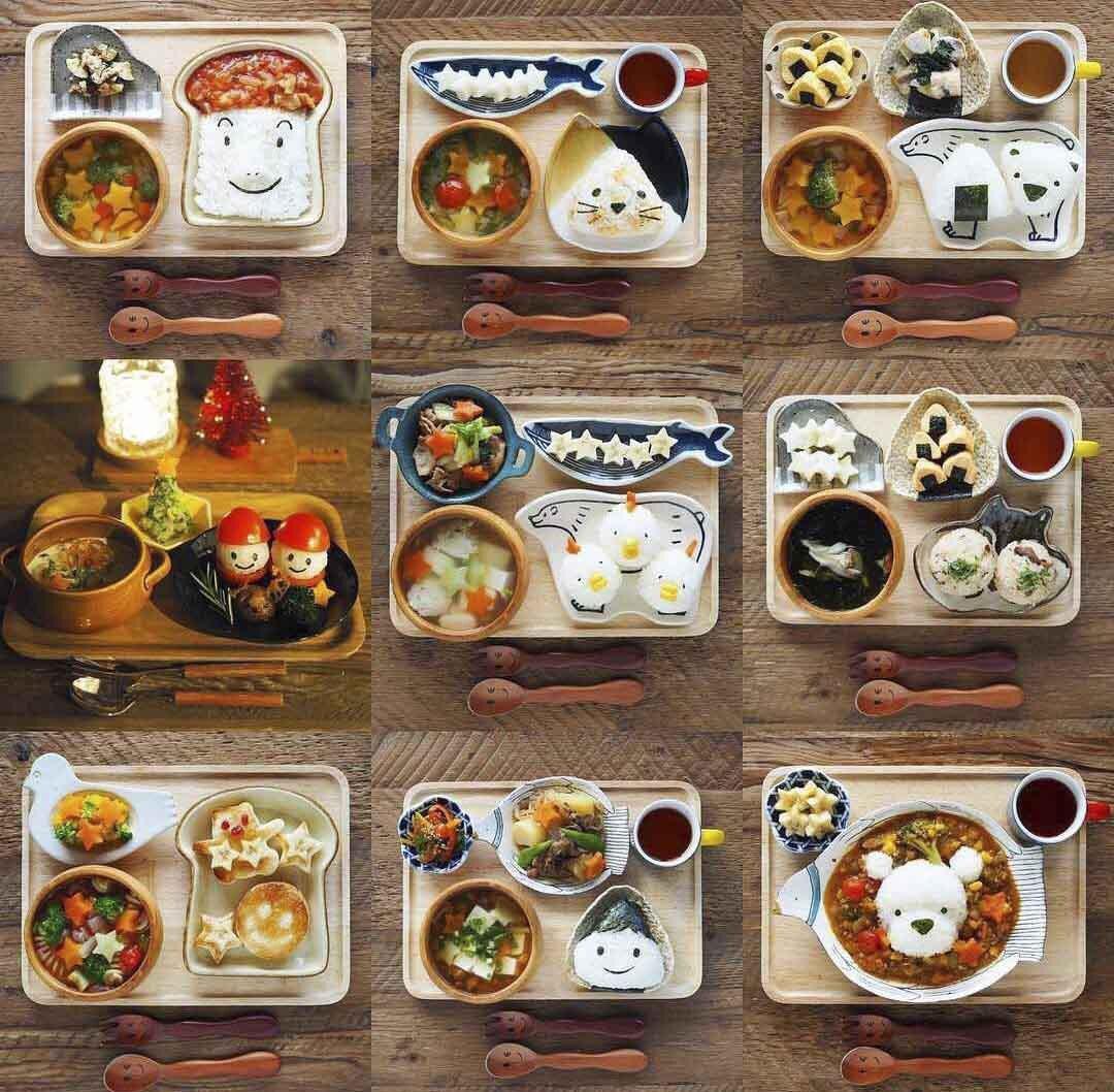 Thực đơn ăn dặm đẹp mê mẩn của mẹ Nhật